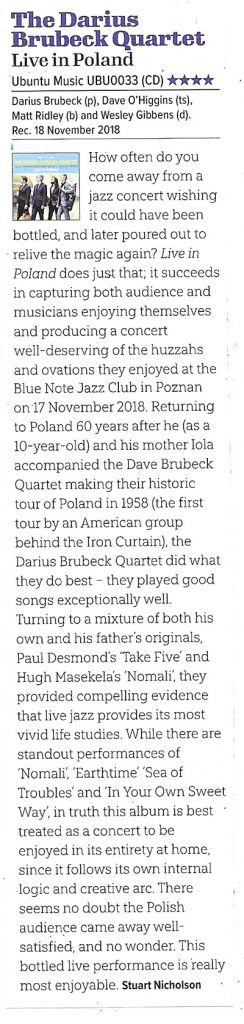Jazzwise review of Live in Poland